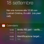 Schermata del Centro Notifiche in iOS 8 su iPhone 5s