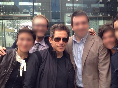 Ben Stiller a pranzo al MACRO a Roma…