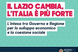 Intesa Governo Regione Lazio: sbloccati 1,5 miliardi di Euro