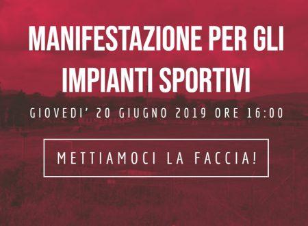 Manifestazione per gli impianti sportivi: mettiamoci la faccia!